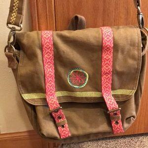 American Girl Lea Clark canvas messenger bag EUC